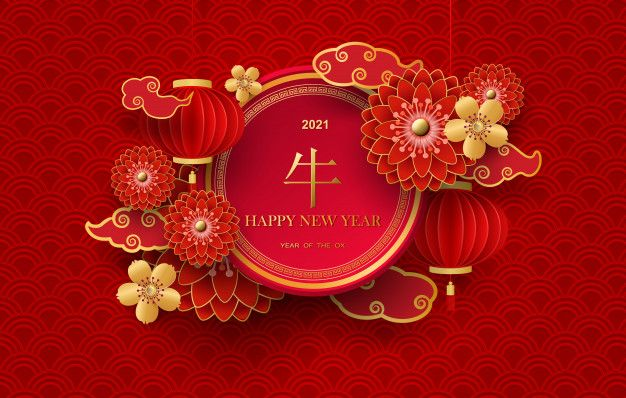 Year Of Bull 2021 Images Year Of Ox Wallpaper Chinese New Year Greeting Chinese New Year Card Chinese New Year Background