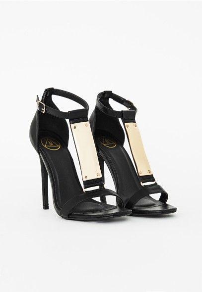 Salomés à brides métalliques - Chaussures - Talons hauts - Missguided