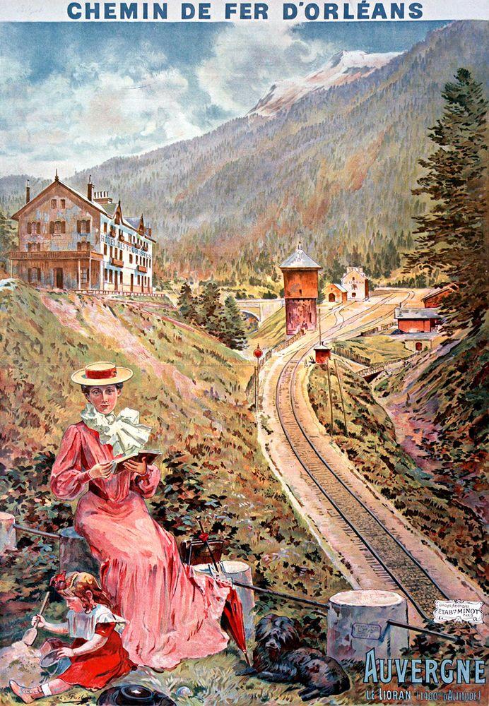Affiche chemin de fer Orléans - Auvergne - Le Lioran