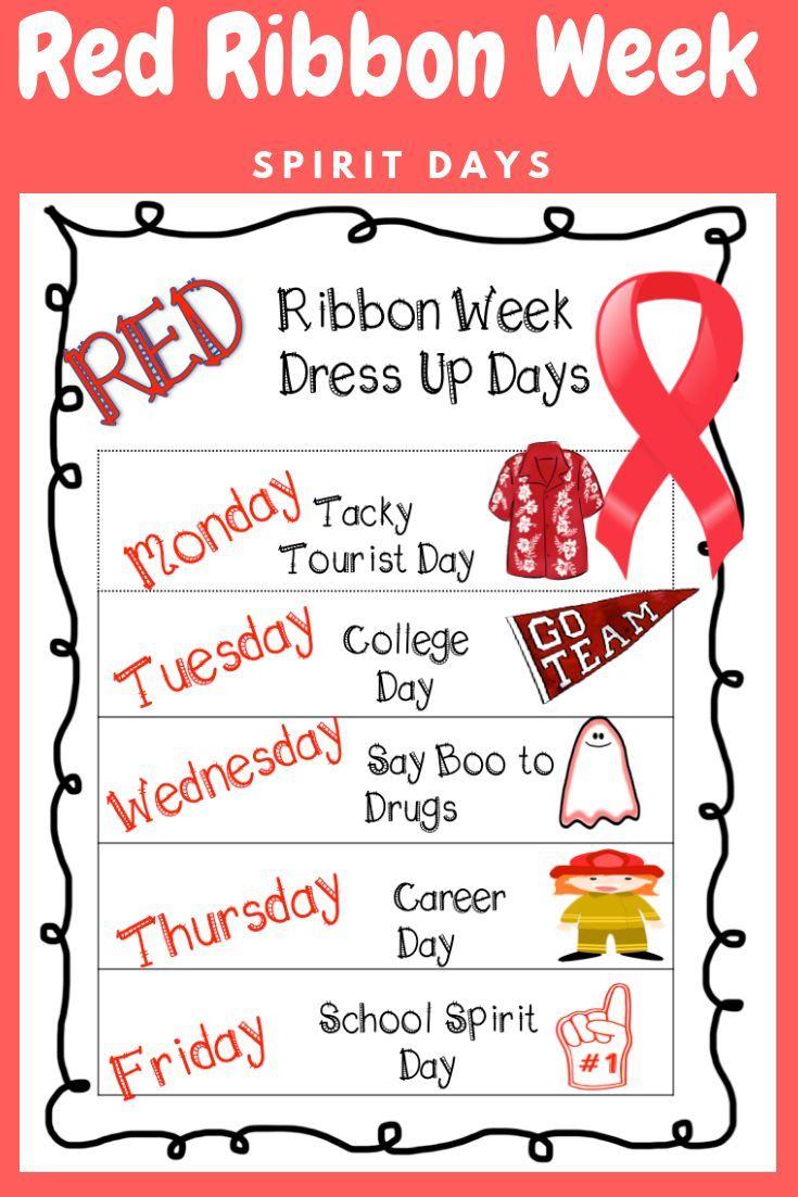 Red Ribbon Week Red Ribbon Week Red Ribbon Middle School Counseling [ 1102 x 735 Pixel ]
