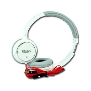 Fone de ouvido professional estéreo com microfone - branco