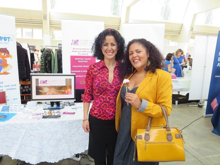 Fabiola Leon organizer of the AWESummit Switzerland with Ana Maria professional photographer