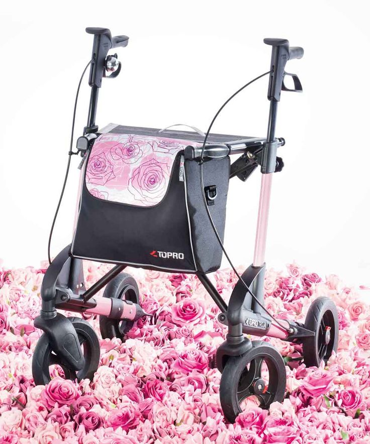 TOPRO Rollator Walker Troja 2G Premium, Rose Sublime