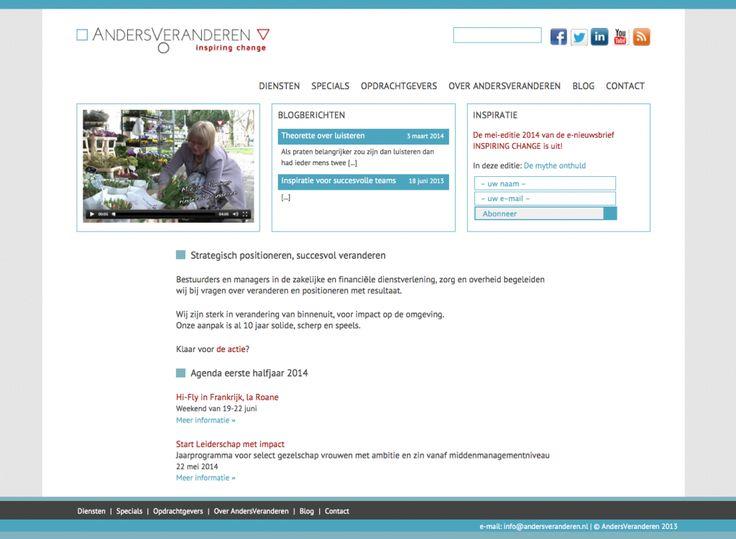 Website AndersVeranderen • inspiring change