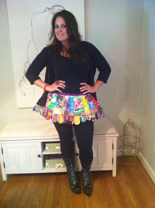 Cute cookie booth costume idea - use empty boxes to make a tutu! good idea for those older girls that aren't as cute to help them sell the cookies