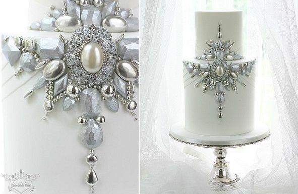 Jewelled & Beaded Winter Wedding Cakes - Cake Geek Magazine                                                                                                                                                                                 More
