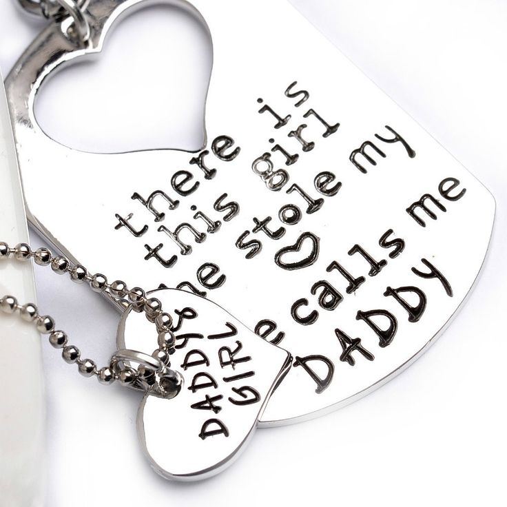 """Keychains or necklaces - For Father and Daughter """"Stole my heart"""""""