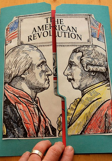 "The American Revolution Lapbook Cover by hurrayic, via Flickr... more pictures of the insides, too! Follow the ""older"" arrow once you get there!"