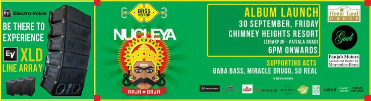 Get Ready For 30th September, Friday Experience #Electro-Voice X Line Arrays(XLD) Location - Chimney Heights Resort Zirakpur, Patiala Road Gaah #Nucleya #AlbumLaunch In association with: #ElectroVoice, #Soundtree, #Kingfisher, BigWich , Uncle Jack's , #Uber, Radio Mirchi, Chimney Heights, #Insider.in, and Saavn, Mercedes-Benz Panjab Motors.