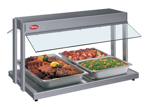 The Glo-Ray® Buffet Warmer (GRBW Series) from Hatco holds hot foods safely at optimum serving temperatures while maintaining product quality, using a thermostatically-controlled heated base and pre-focused infrared overhead heat to extend holding times.