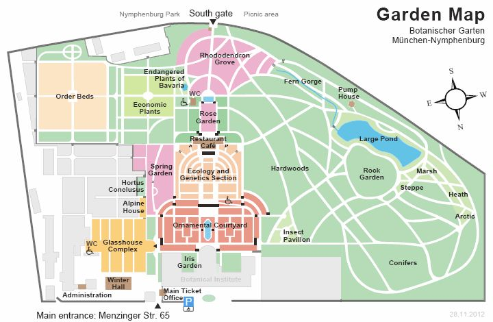 Vintage Botanic Garden Munich Germany map Munich and Bavaria Pinterest Munich Munich germany and Bavaria