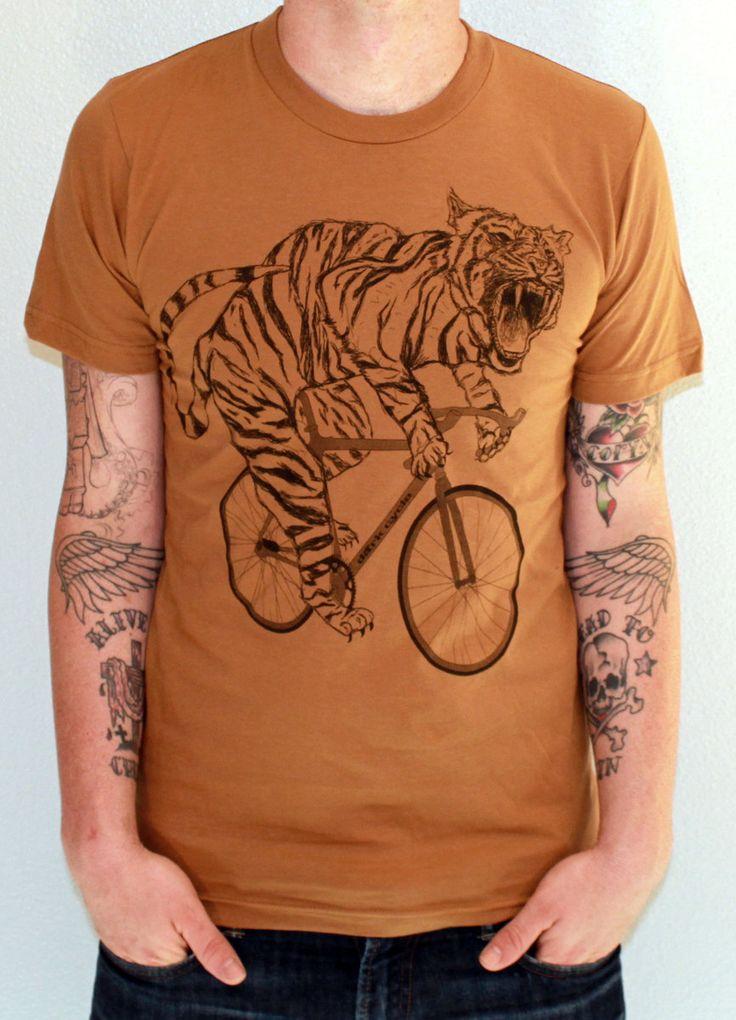 Unisex Urban TIGER T Shirt american apparel by darkcycleclothing, $21.00