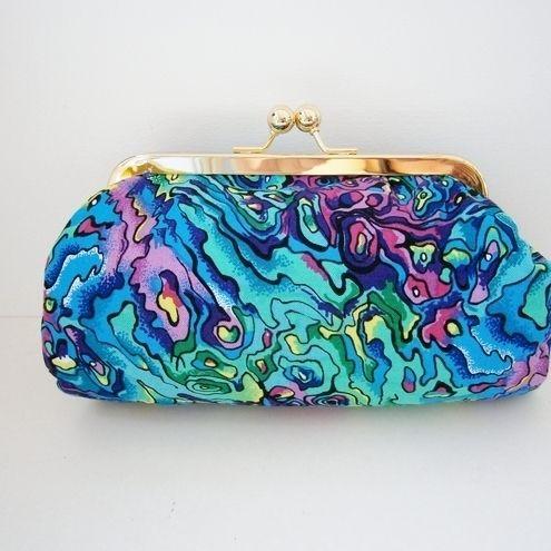 Pacific Paua Shell Clutch Bag Make up Purse £14.00