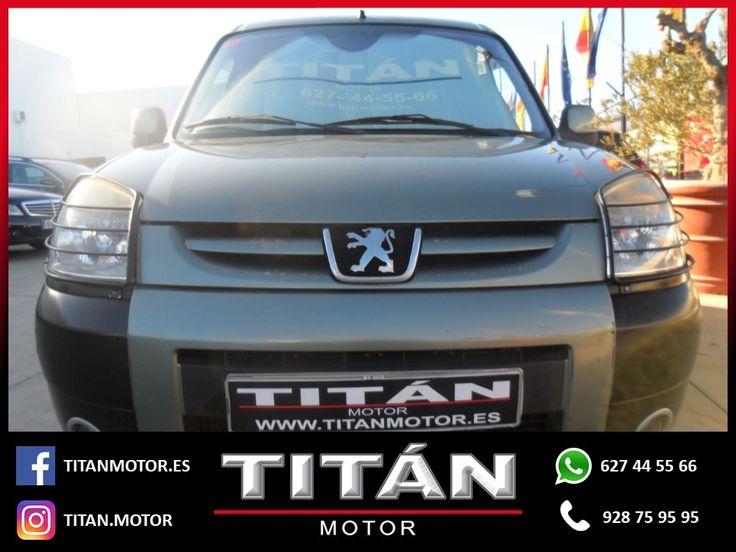 En Titán Motor tenemos para tí el PEUGEOT Partner 1.6HDI 90 Rancho Plus . 📆Año: 2007 ⛽Combustible: Diesel 🛣️Kilometraje: 217.000 Km 🔸Cambio: Manual 🔸Potencia: 90 CV 💶Precio: 5.900 EUR  Contáctanos 📱627 44 55 66 📞928 75 95 95
