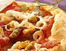 Pizza alla marinara (Pizza aux fruits de mer)