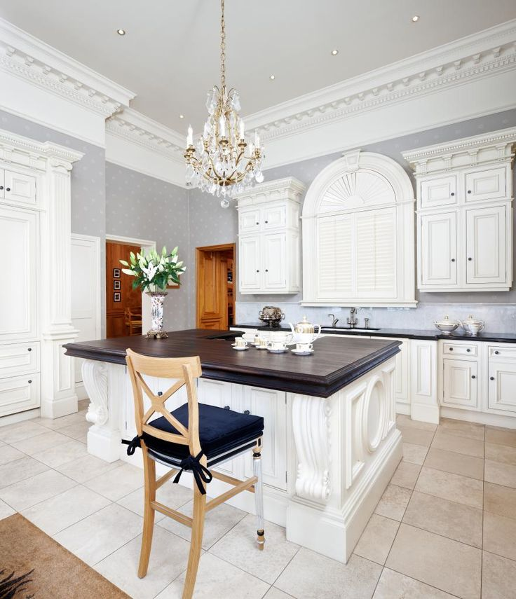 Clive Christian Architectural Kitchen In Antique Ivory