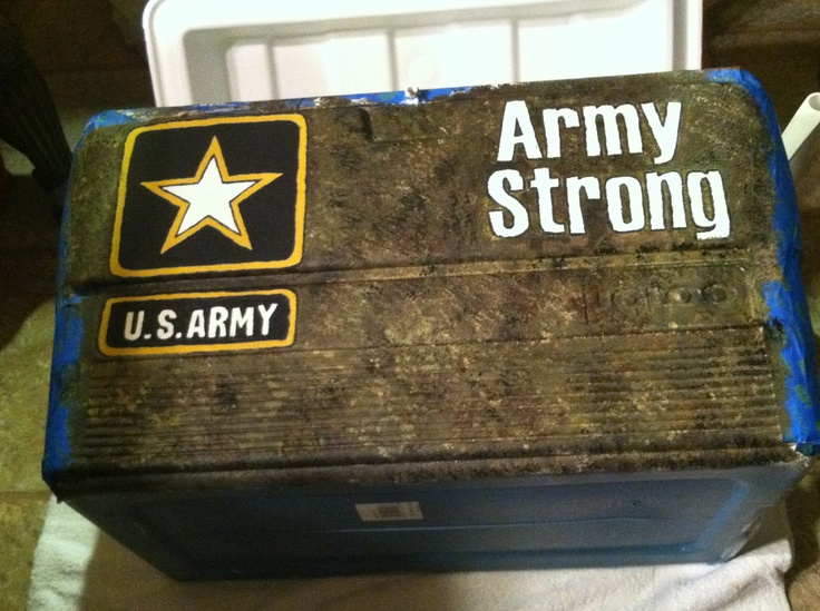 Fraternity cooler for Army Solider! | Frat Coolers | Pinterest