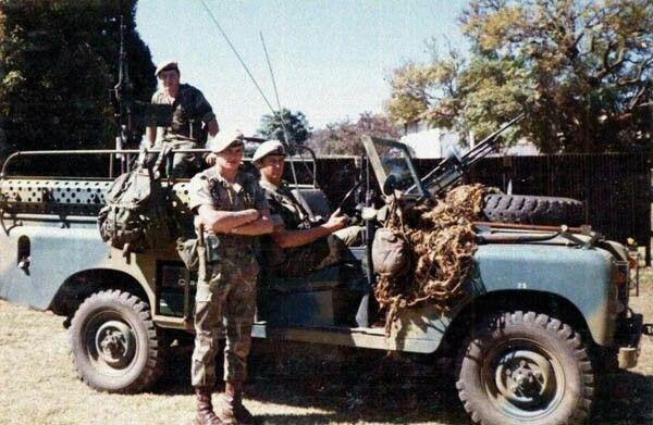 Rhodesian SAS with Jeep - 1970s