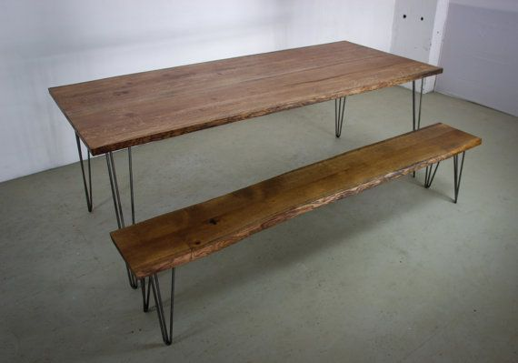 OAK DINING SET Large Dark Oak Dining Table by HardmanDesignBuild