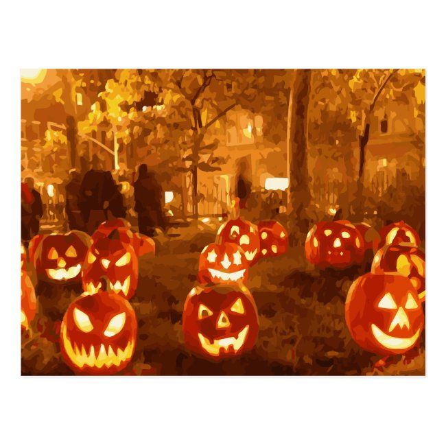Happy Halloween Jack O Lanterns Postcard Zazzle Com In 2021 Halloween Desktop Wallpaper Happy Halloween Pictures Halloween Jack O Lanterns