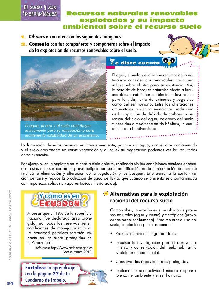 El suelo y sus                                              irregularidades          Recursos naturales renovables        ...
