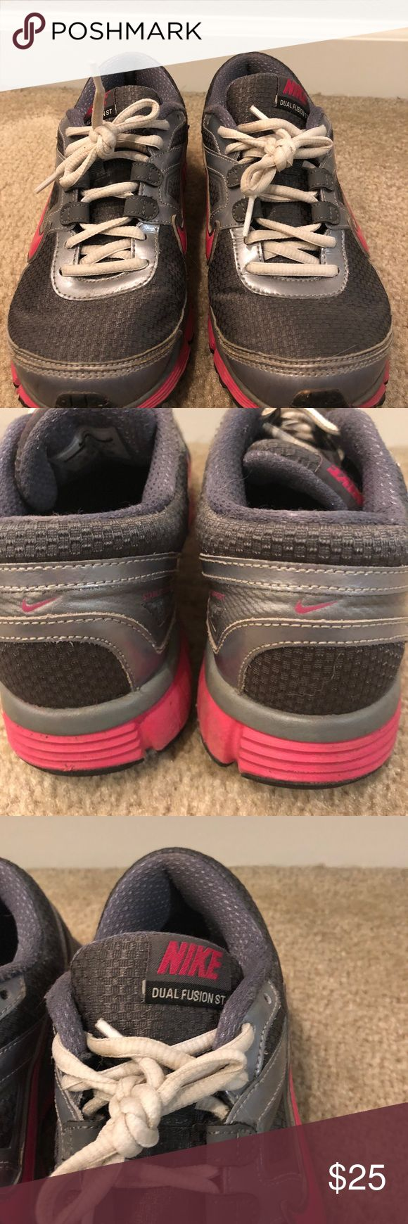Dual Fusion Nike Shoes Lots of comfort and support for your feet. Great for  long distance running. Only used a couple times. In good condition.