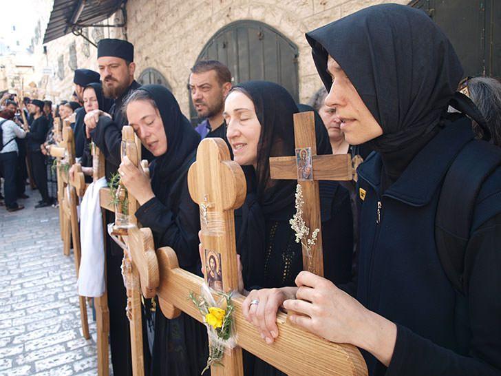 Προσευχόμενες γυναίκες στην Οδό του Μαρτυρίου - Praying women in Via Dolorosa
