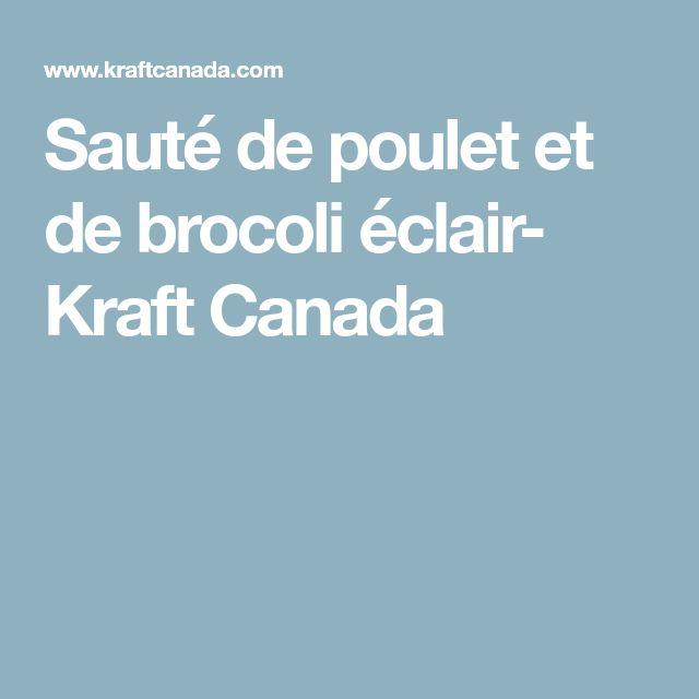 Sauté de poulet et de brocoli éclair- Kraft Canada