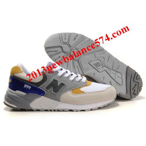 New Balance CMM999L Kennedy President classic White Grey Yellow Blue men  shoes,Half Off New