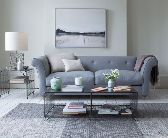 The Chester sofa is a seriously cool take on a classic chesterfield with cleaner lines, fewer buttons and gorgeous weathered oak legs.