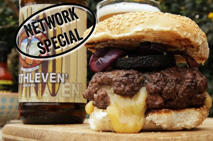 DJ BBQ's Ultimate Cheeseburger | Network Highlight | #beatmyburger