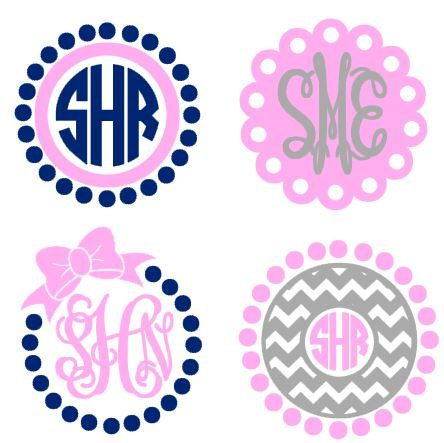 Monogram Frames instant download for cutting by bibberberry