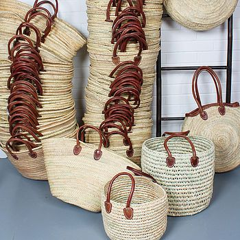 Souk Moroccan Shopping Basket - I love these. I used mine for the souk shopping, and now at home, it's a magazine/newspaper holder