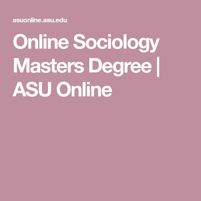 Online Sociology Masters Degree | ASU Online