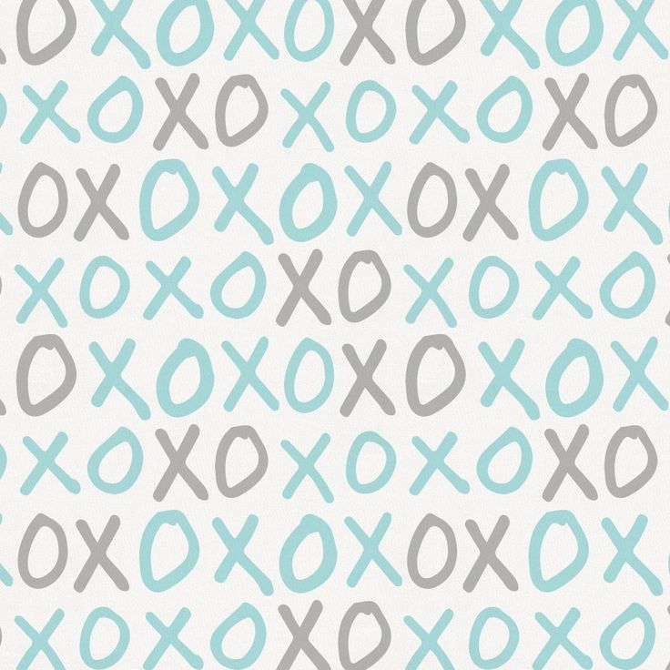 Seafoam and Gray XO Fabric by Carousel Designs.