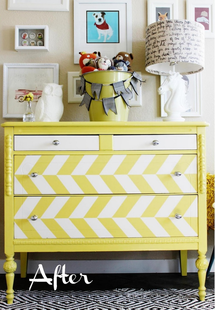 This started as a $50 Craigslist dresser.  Ummm... look how ADORABLE!  Saved from the dump & now the focal point of a room!