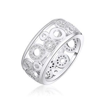 RING KAGI CONSTELLATION STERLING SILVER HAND-SET MICRO PAVE CUBIC ZIRCONIA 10MM WIDE SIZE LARGE P1/2 - Jons Family Jewellers