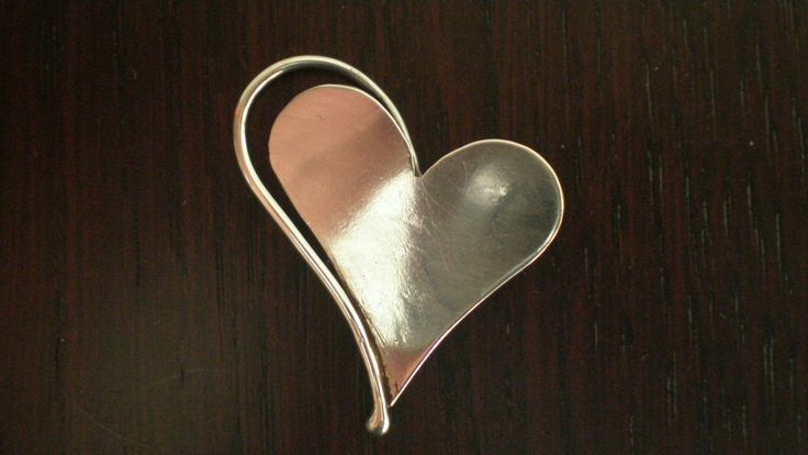 Handmade Silver Heartshaped Pendant by IoJewellery on Etsy