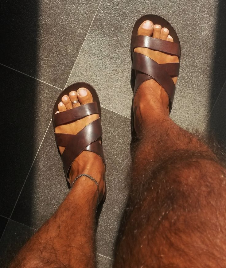 Men's leather sandals for Collin