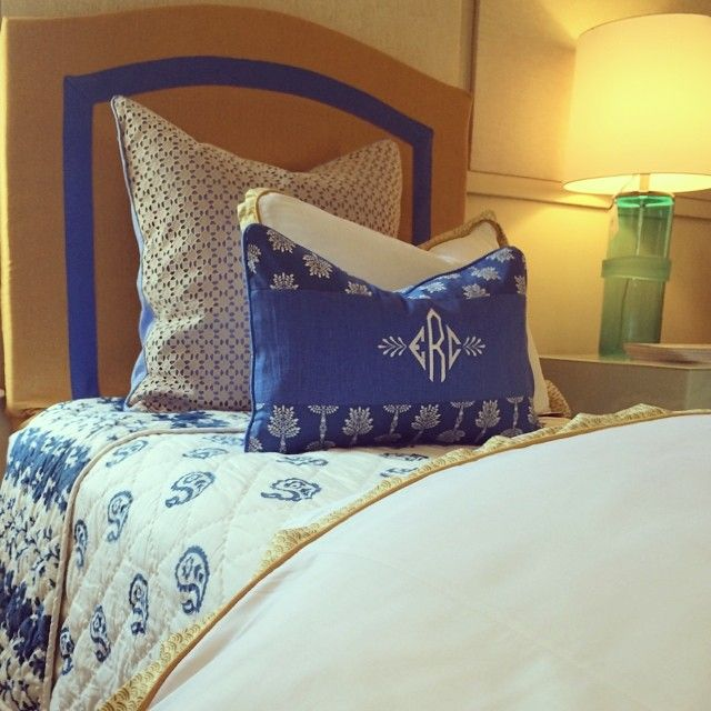 Monogrammed Dorm Bedding