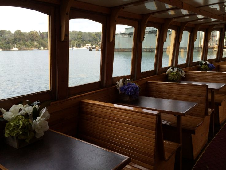 Lower deck dining tables Port Side