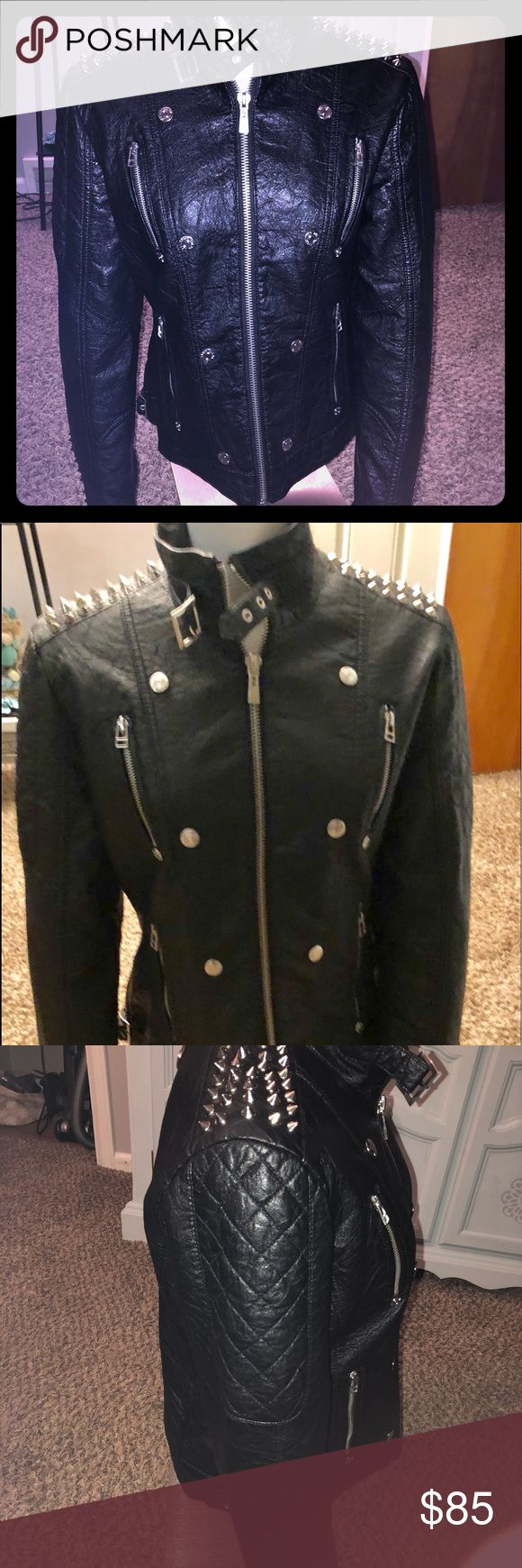 Affliction faux leather jacket This jacket is absolutely