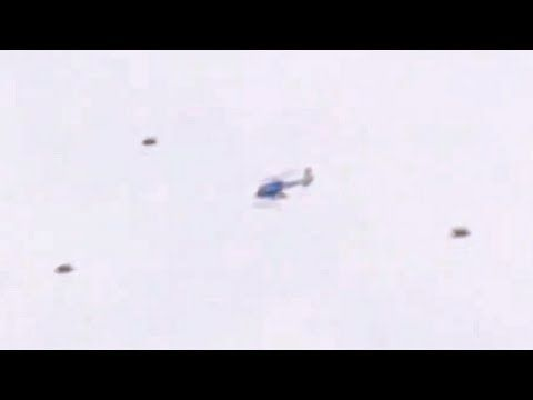 Superior Real UFOs Chasing A Helicopter