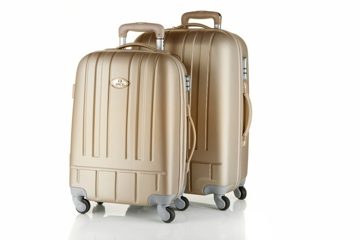 Gorgeous gold travel suitcases