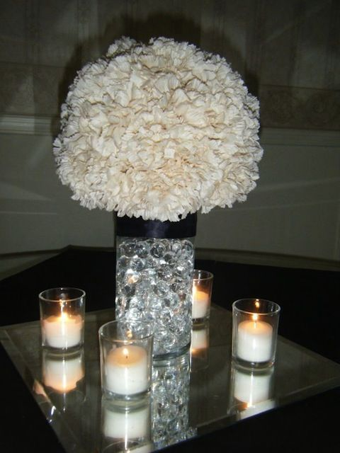 Colorful Carnations on itsabrideslife.com/Wedding Flowers/Wedding Centerpieces