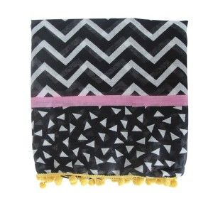 Foulard zig zag lines and dots by Disaster Designs
