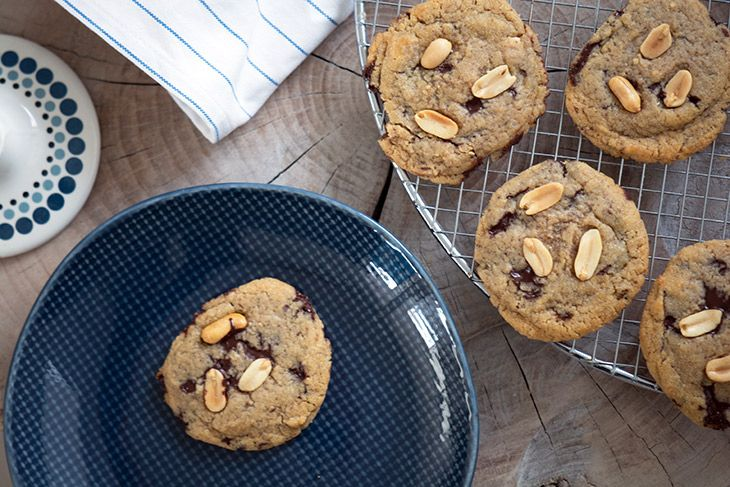 Peanutbutter Cookies - Opskrift på nemme og lækre sprøde cookie