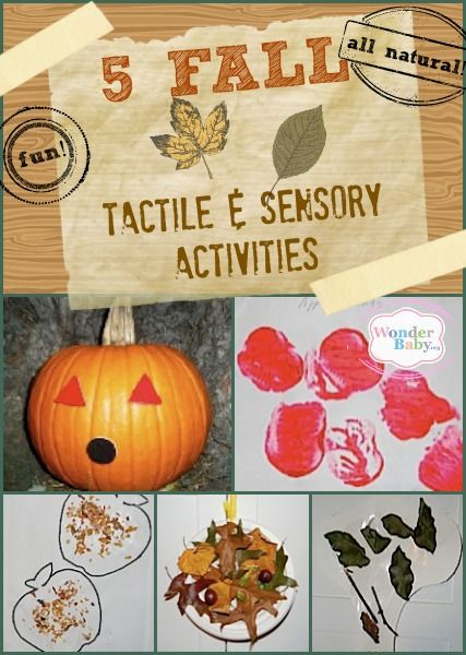 Five fall sensory and tactile activities that are perfect for kids who are blind.