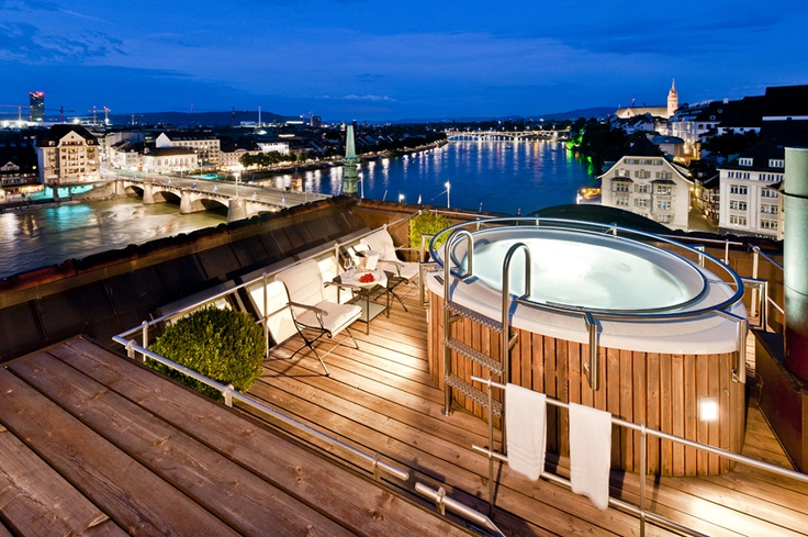 You can also relax in your private open-air Jacuzzi and sauna, high above the rooftops of the Old Town.