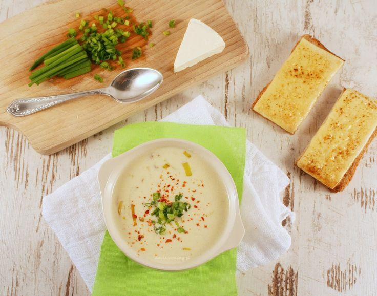 Śmietanowa zupa serowa z porem
